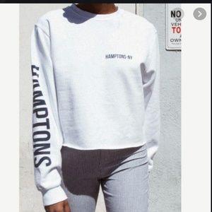 Brandy Melville Nancy New York Cropped Sweatshirt